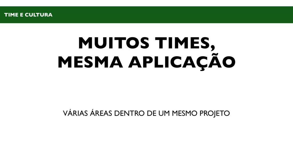 MUITOS TIMES, MESMA APLICAÇÃO VÁRIAS ÁREAS DENT...