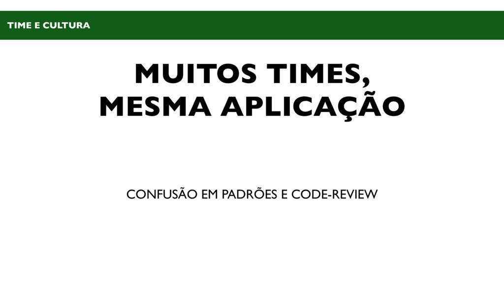 MUITOS TIMES, MESMA APLICAÇÃO CONFUSÃO EM PADRÕ...