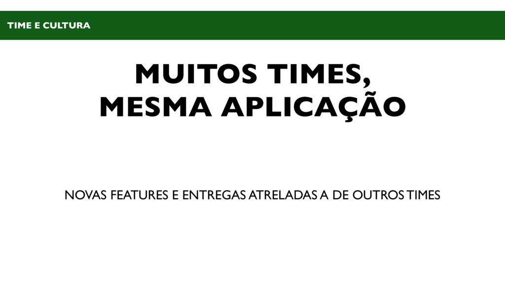 MUITOS TIMES, MESMA APLICAÇÃO NOVAS FEATURES E ...