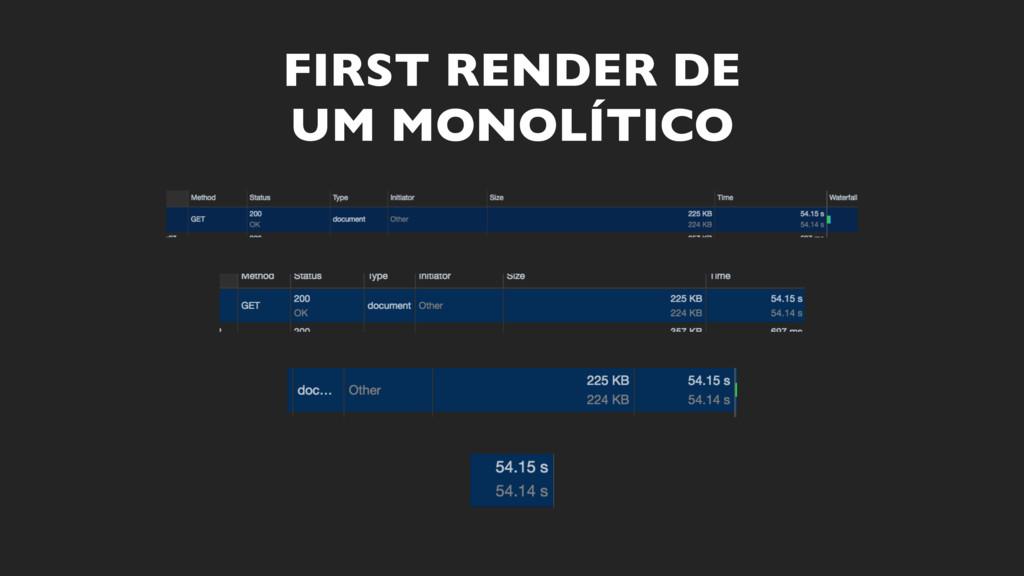 FIRST RENDER DE UM MONOLÍTICO