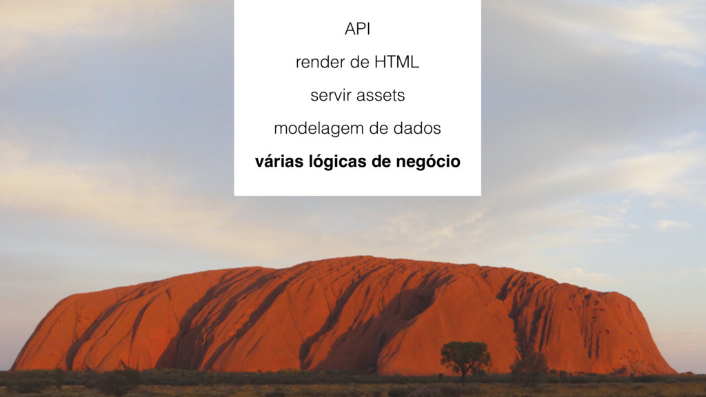 API render de HTML servir assets modelagem de d...
