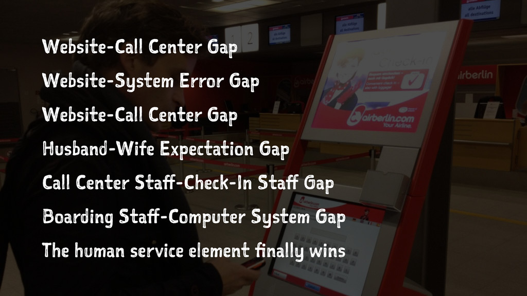 Website-Call Center Gap Website-System Error Ga...