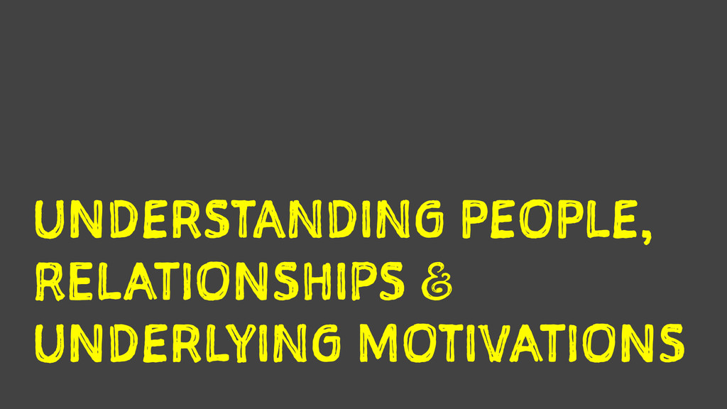 UNDERSTANDING PEOPLE, RELATIONSHIPS a UNDERLYI...