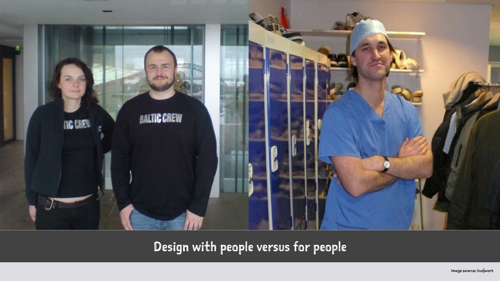 Design with people versus for people Image sour...