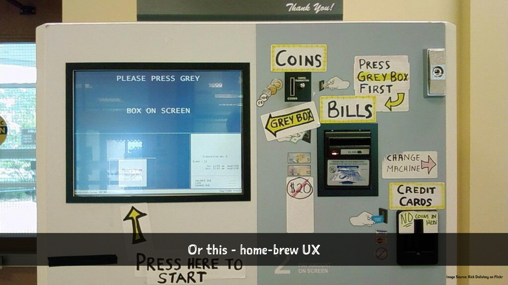 Or this - home-brew UX Image Source: Rick Dolis...