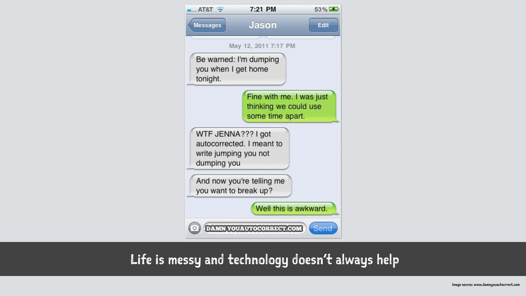 Life is messy and technology doesn't always hel...