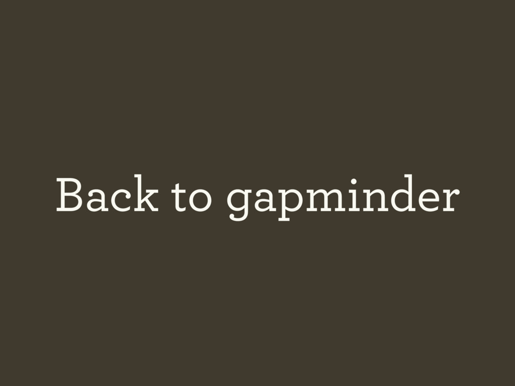 Back to gapminder