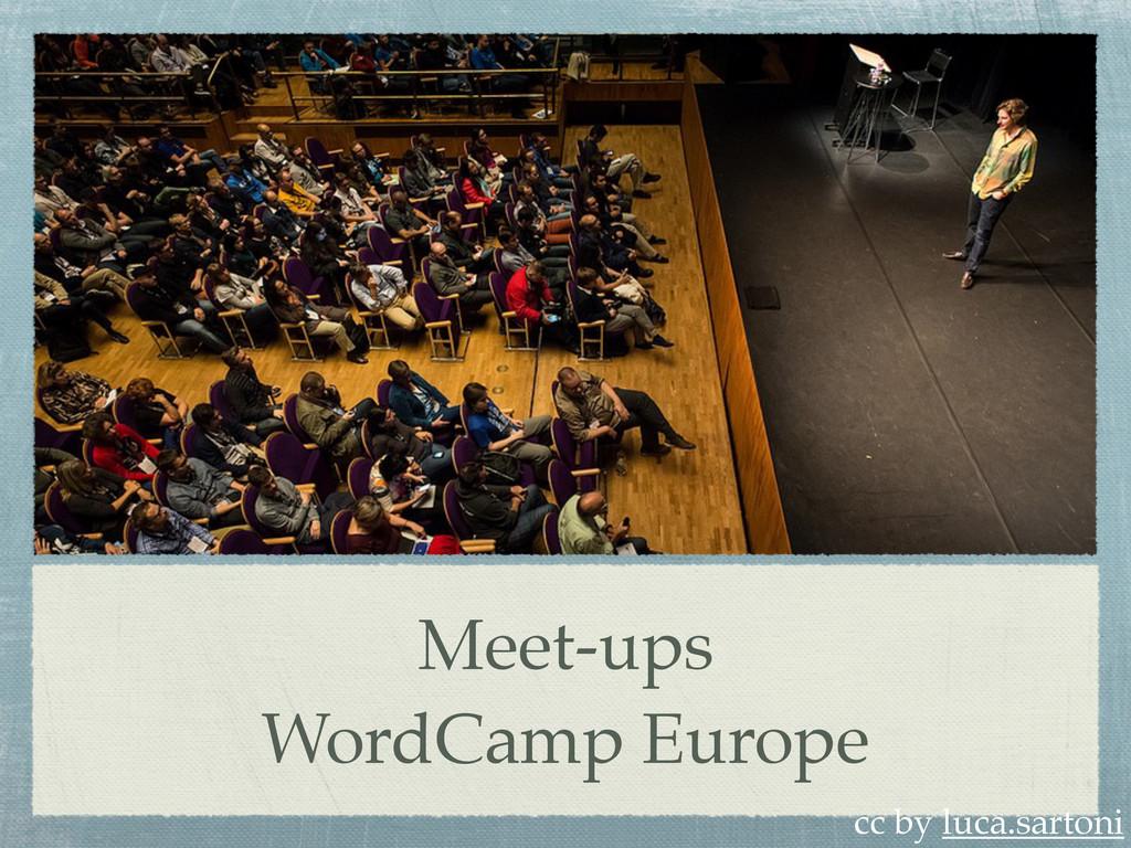 Meet-ups WordCamp Europe cc by luca.sartoni