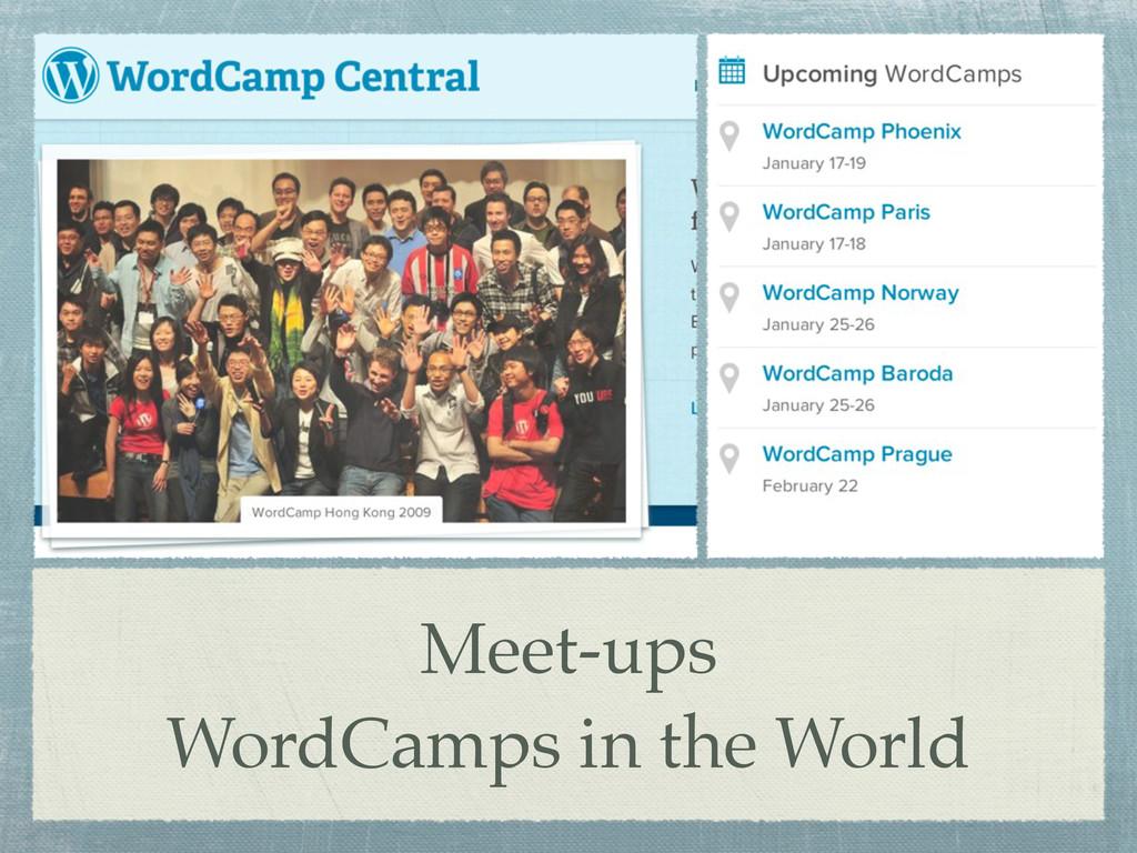 Meet-ups WordCamps in the World