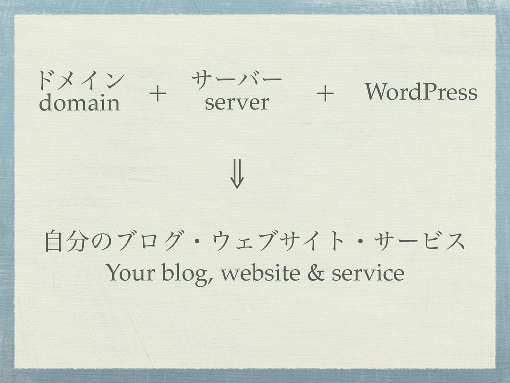 υϝΠϯ domain αʔόʔ server WordPress + + ⇓ ࣗͷϒϩάɾ...