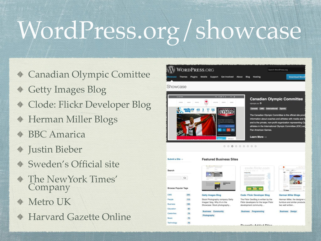 WordPress.org/showcase Canadian Olympic Comitte...