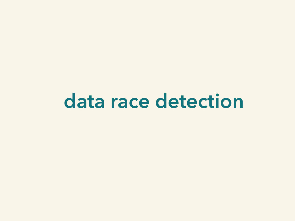data race detection