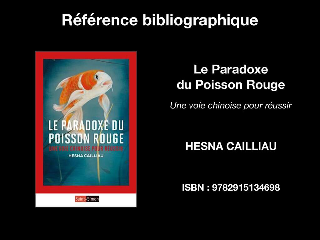 Référence bibliographique Le Paradoxe du Poisso...