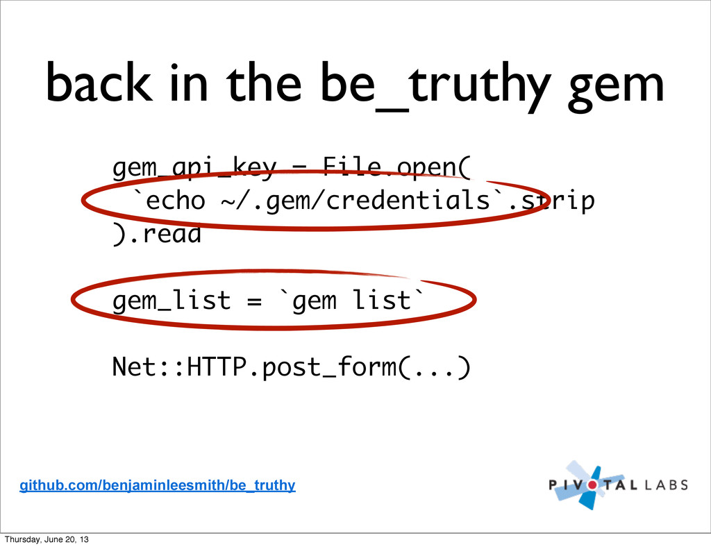 gem_api_key = File.open( `echo ~/.gem/credentia...