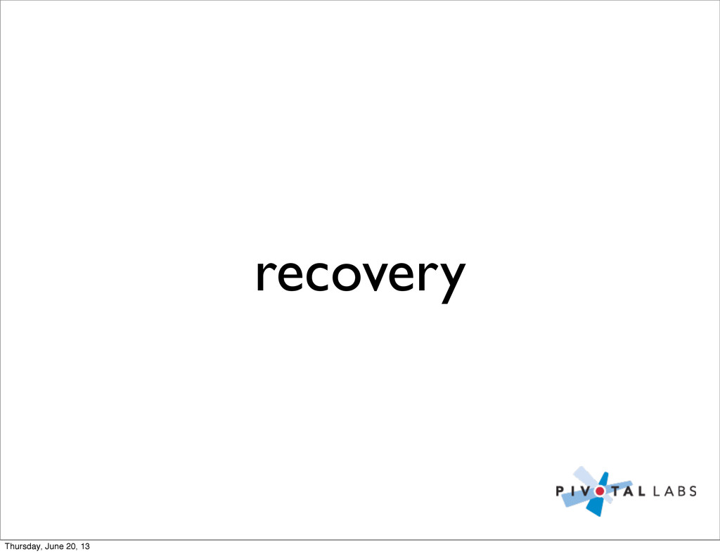 recovery Thursday, June 20, 13