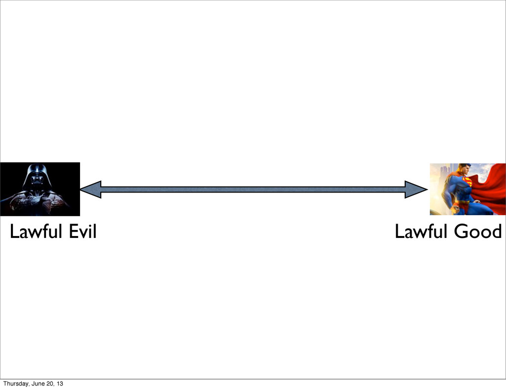 Lawful Evil Lawful Good Thursday, June 20, 13