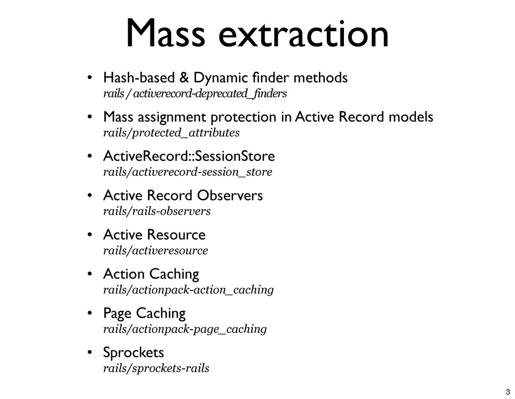 Mass extraction • Hash-based & Dynamic finder me...