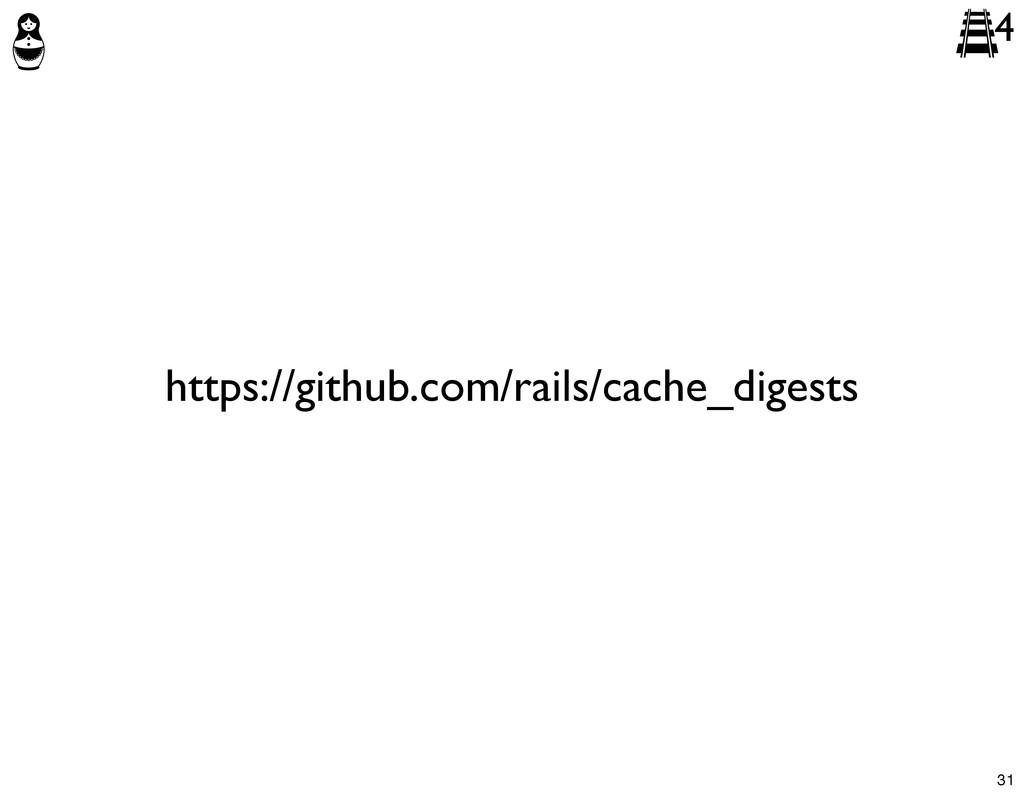 4 https://github.com/rails/cache_digests 31