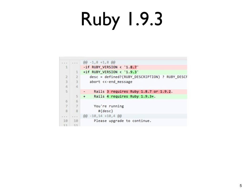 Ruby 1.9.3 5