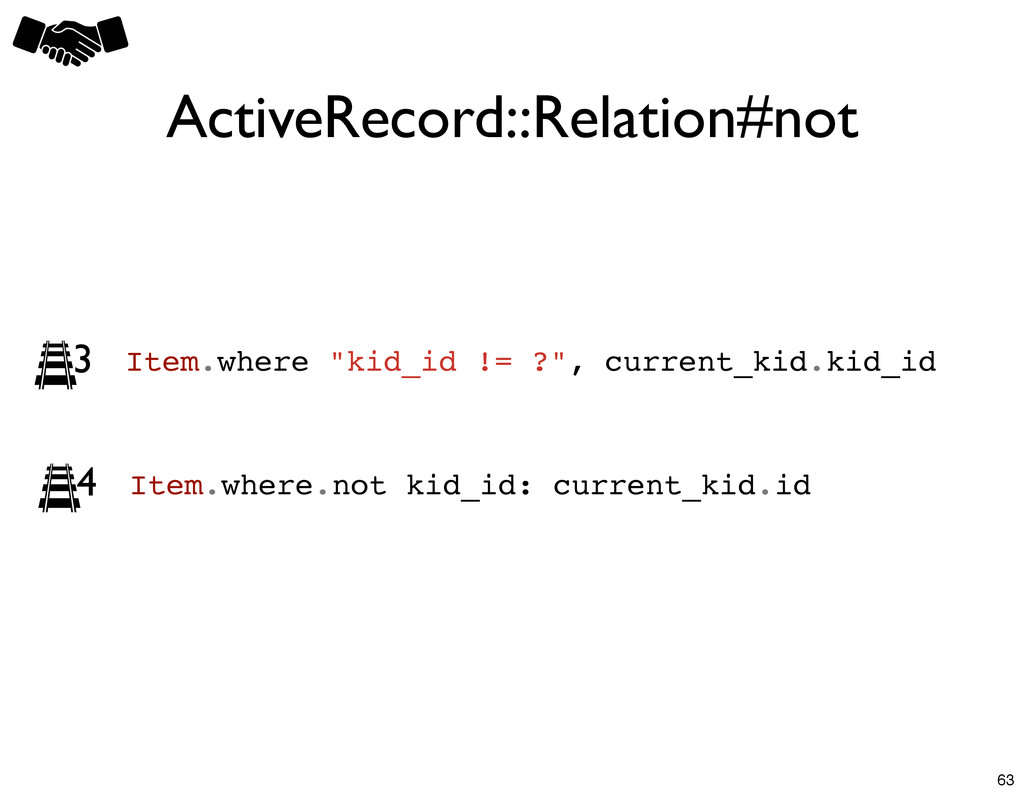 """ActiveRecord::Relation#not Item.where """"kid_id !..."""