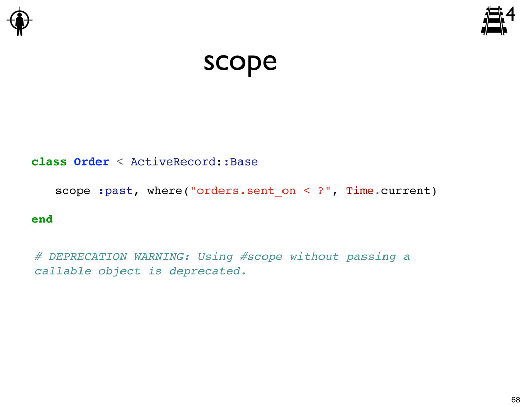 class Order < ActiveRecord::Base ! scope :past,...