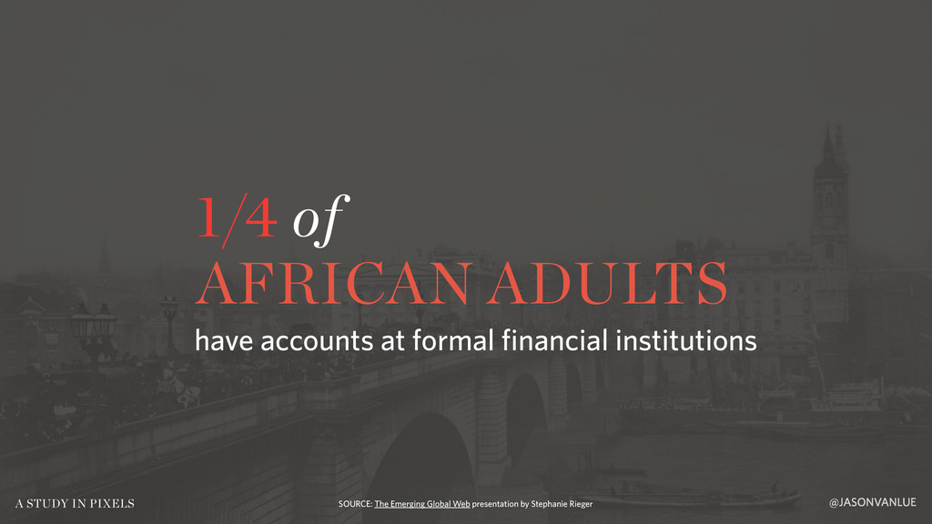 1/4 of AFRICAN ADULTS @JASONVANLUE A STUDY IN P...