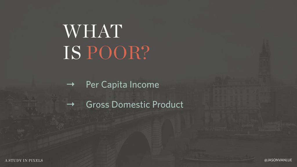 WHAT IS POOR? @JASONVANLUE A STUDY IN PIXELS → ...