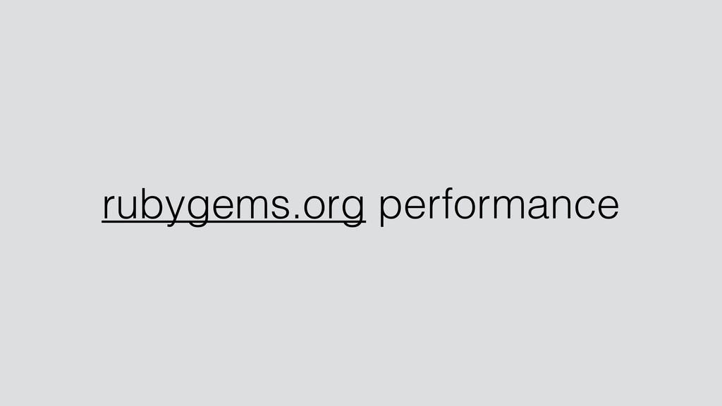 rubygems.org performance