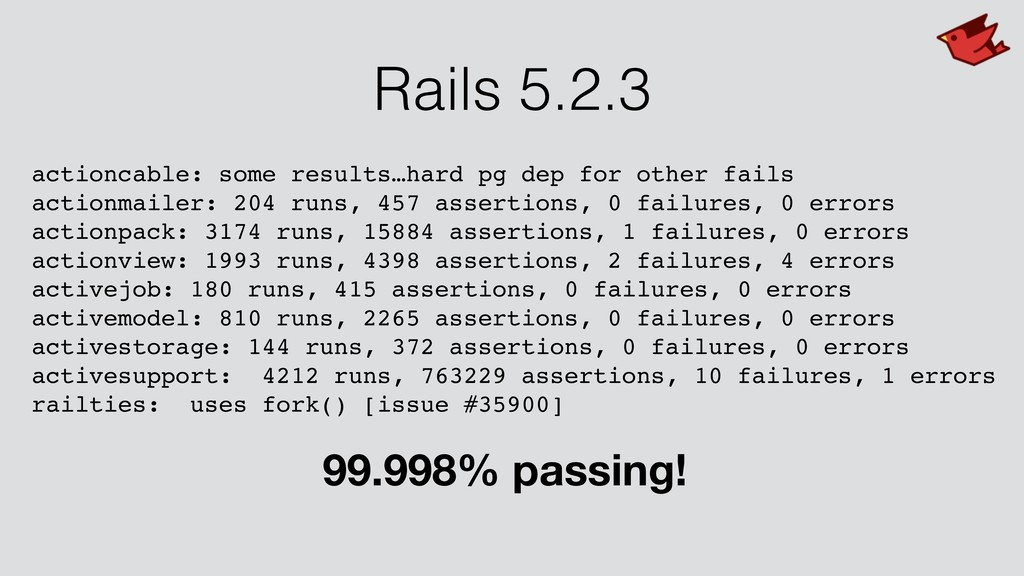 Rails 5.2.3 actioncable: some results…hard pg d...