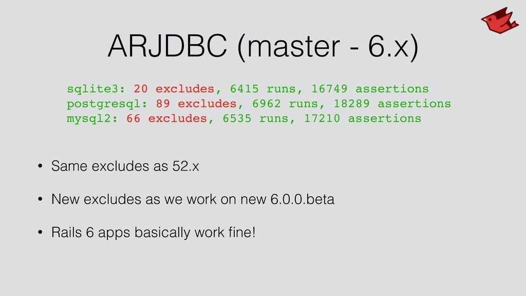 ARJDBC (master - 6.x) • Same excludes as 52.x •...