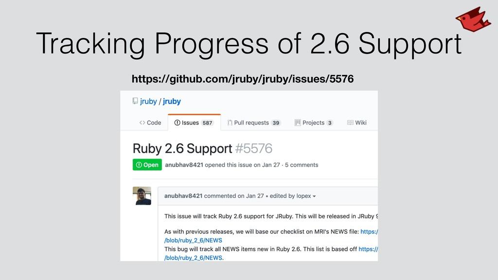 Tracking Progress of 2.6 Support https://github...