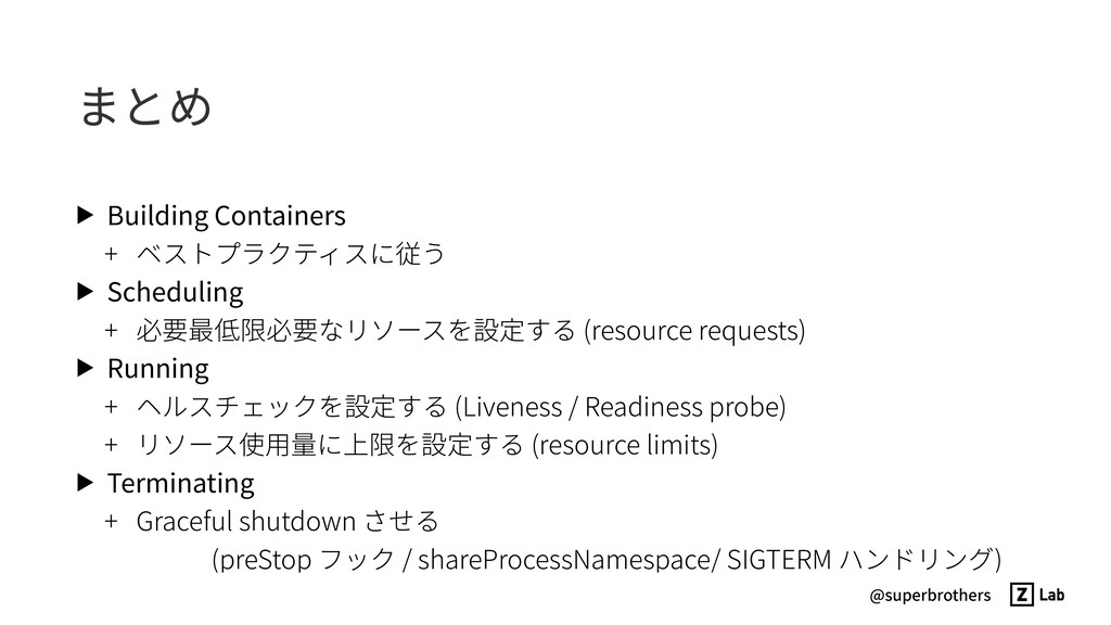 @superbrothers まとめ ▶ Building Containers + ベストプ...