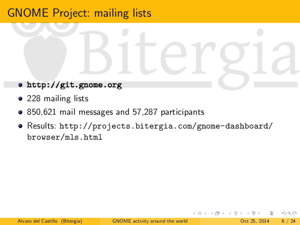 GNOME Project: mailing lists http://git.gnome.o...