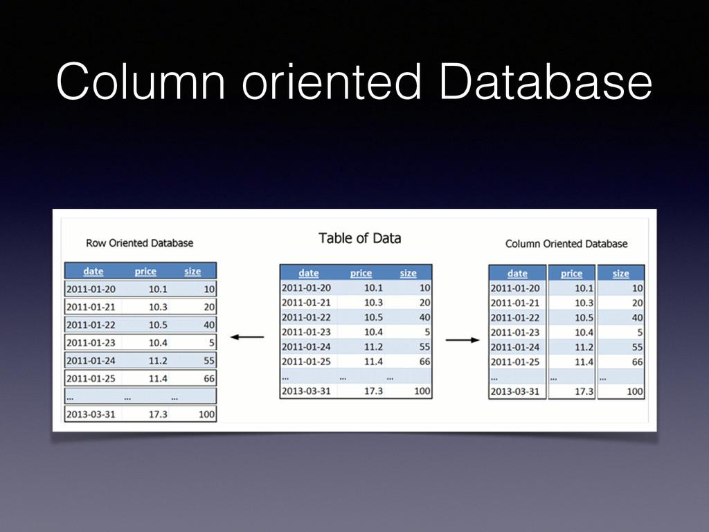 Column oriented Database