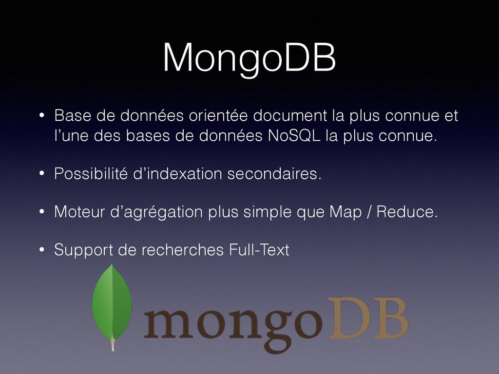 MongoDB • Base de données orientée document la ...