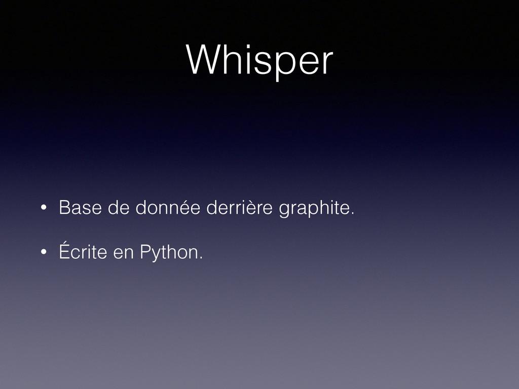 Whisper • Base de donnée derrière graphite. • É...