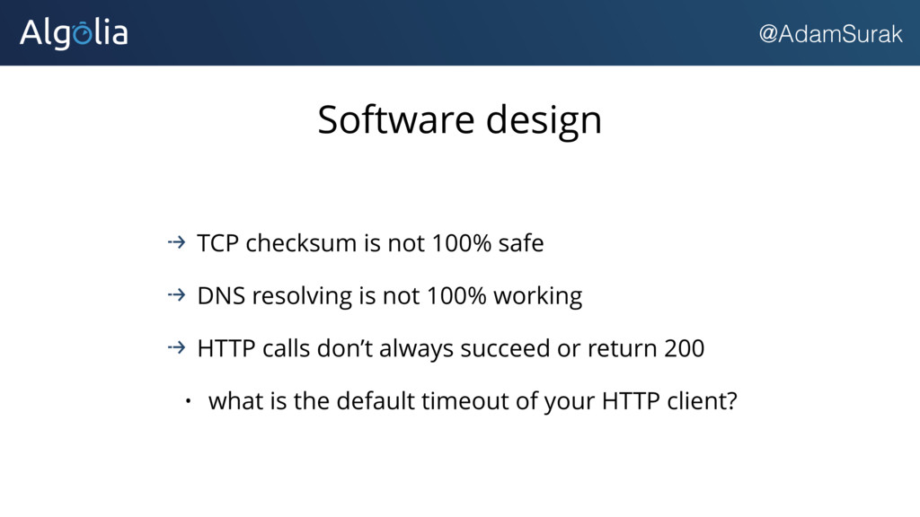 @AdamSurak Software design TCP checksum is not ...