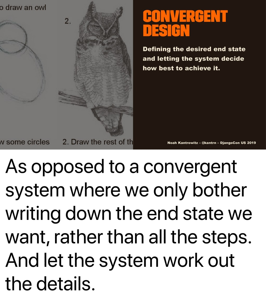 As opposed to a convergent system where we only...
