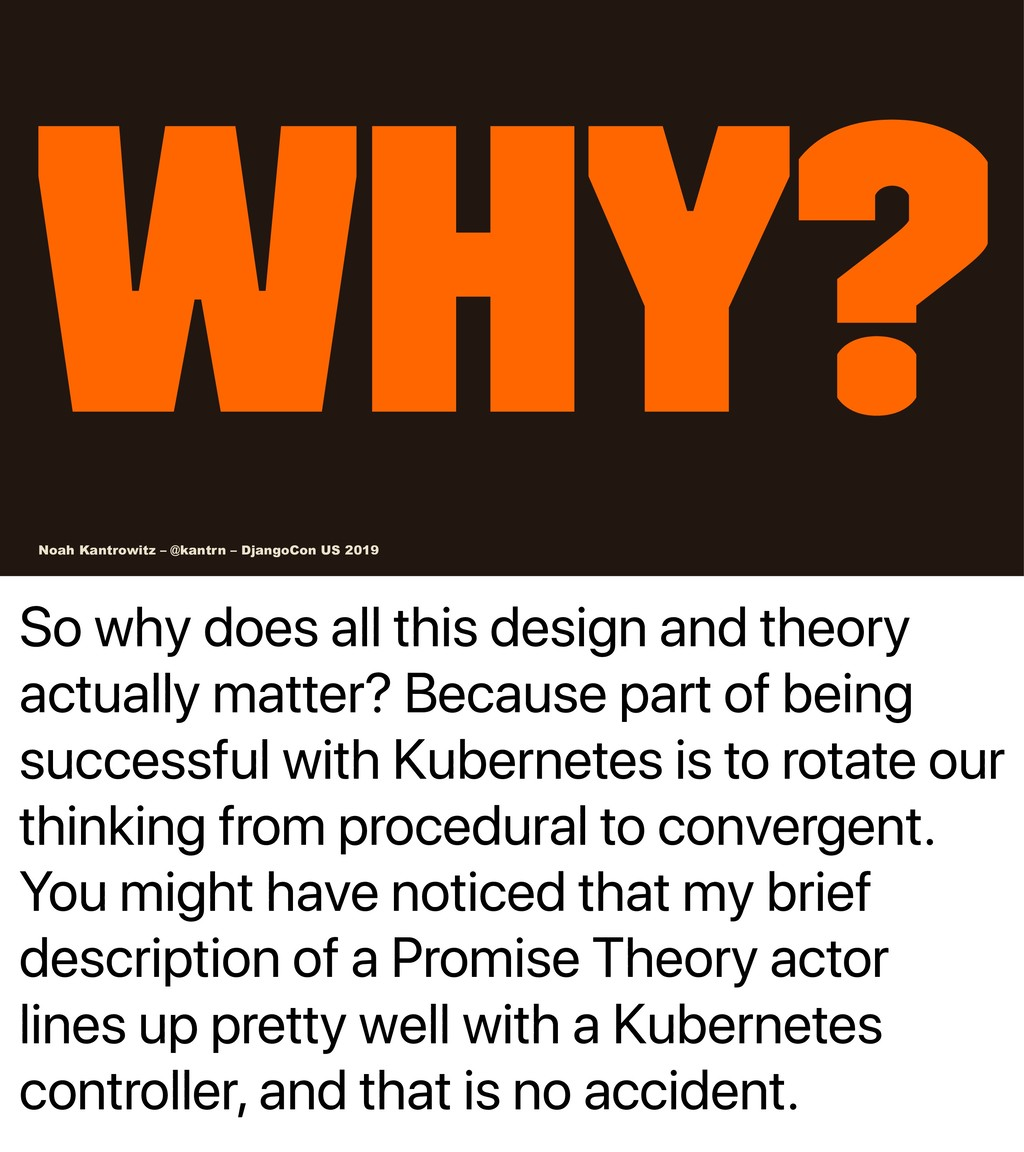 So why does all this design and theory actually...