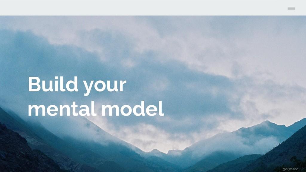 Build your mental model @a_meba