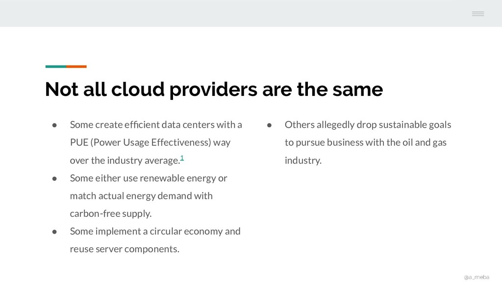 Not all cloud providers are the same ● Some cre...
