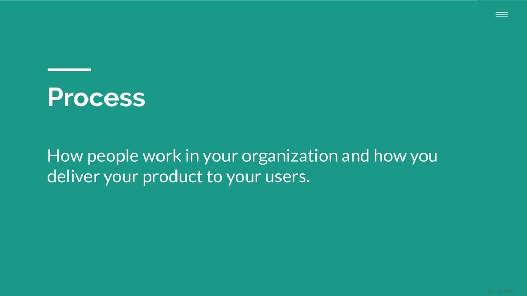 Process How people work in your organization an...