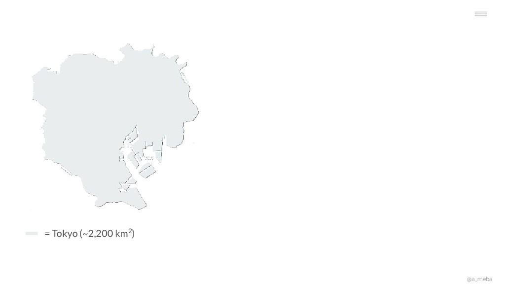 @a_meba = Tokyo (~2,200 km2)