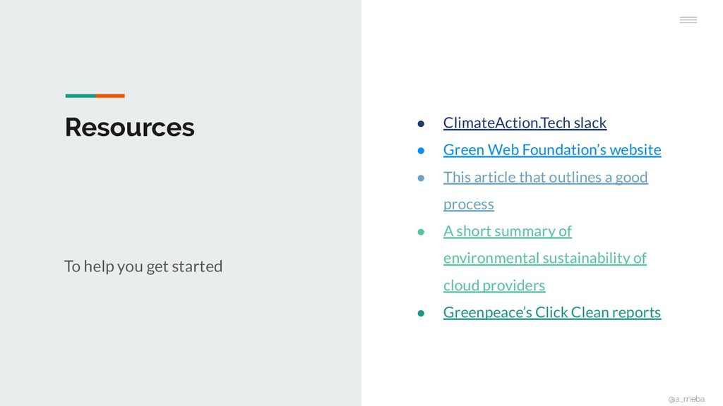Resources To help you get started ● ClimateActi...