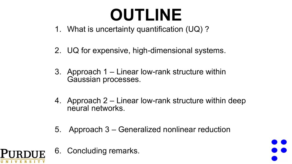 OUTLINE 1. What is uncertainty quantification (...