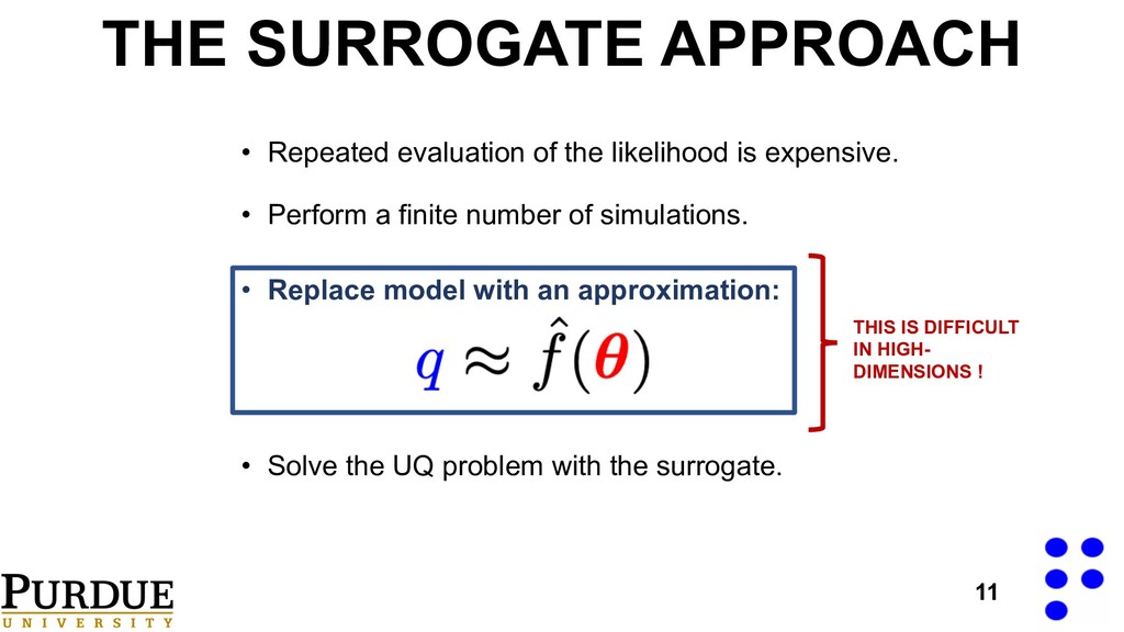 THE SURROGATE APPROACH • Perform a finite numbe...
