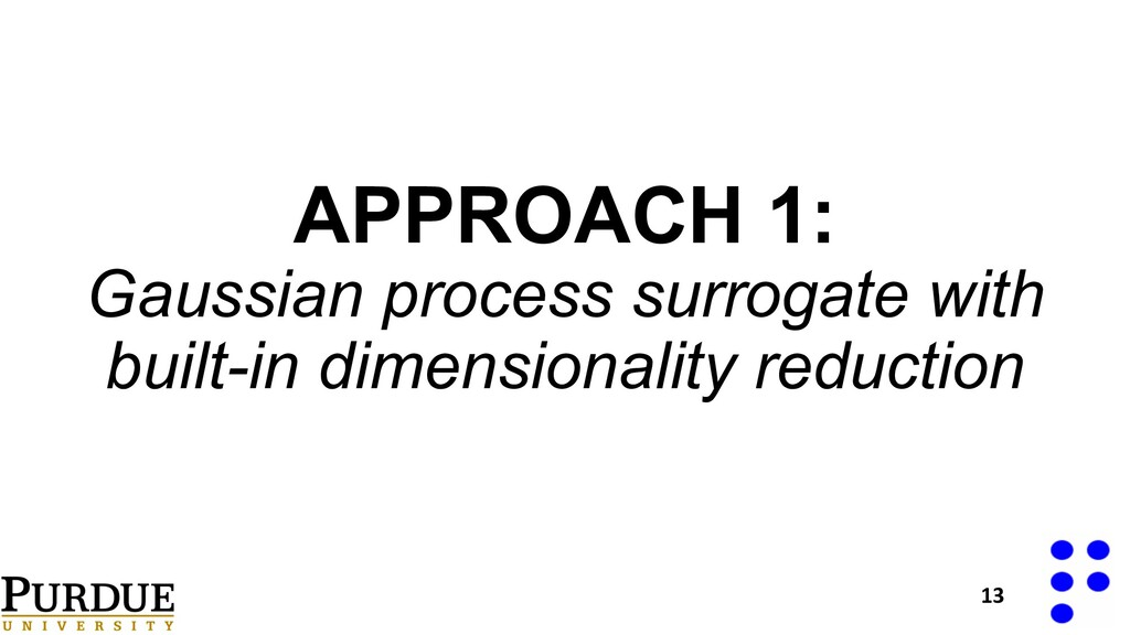 APPROACH 1: Gaussian process surrogate with bui...