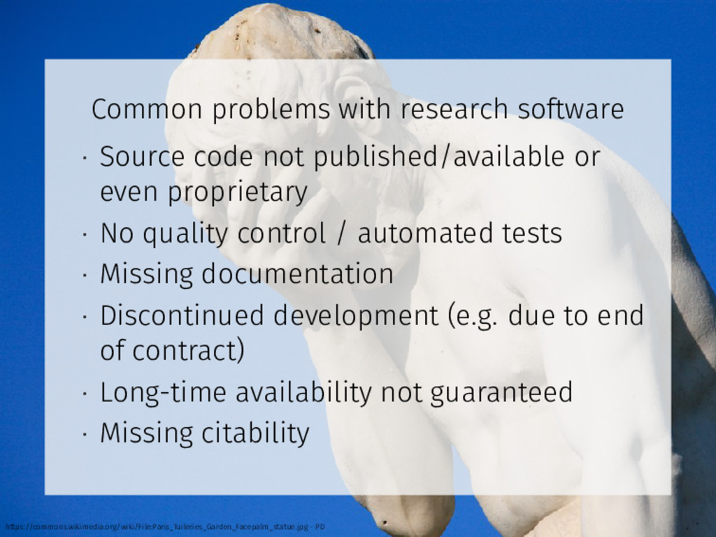 Common problems with research software • Source...