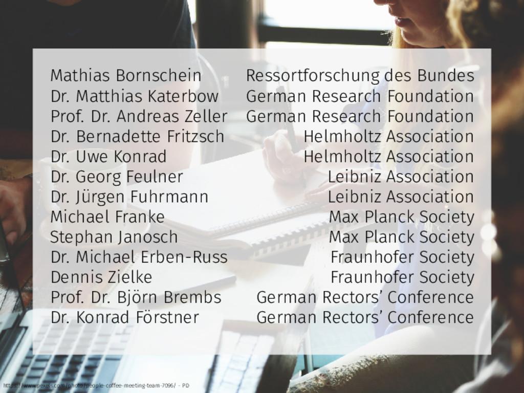 Mathias Bornschein Ressortforschung des Bundes ...