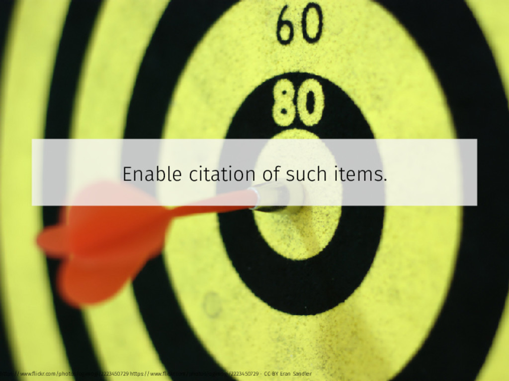 Enable citation of such items. https://www.flick...